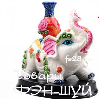 Слон с вазой богатства